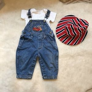 Other - Vintage Baby Denim Overalls Baby Boy 12 Months